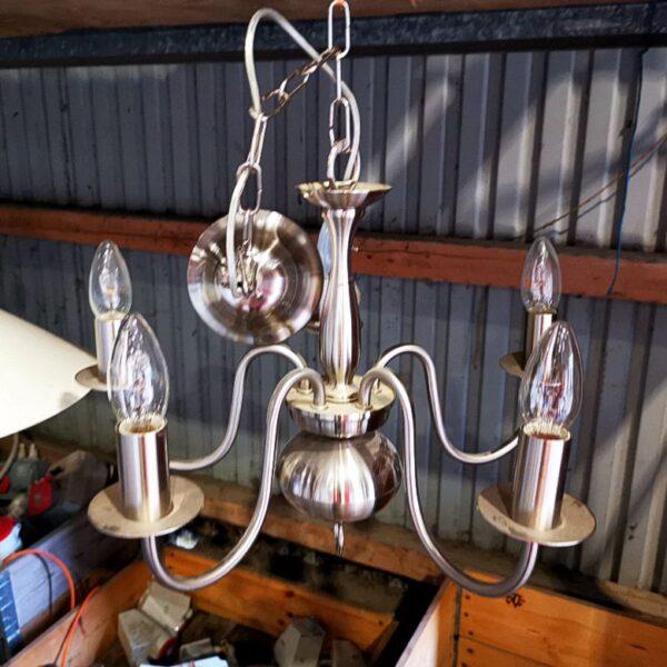 Lampeskærm med kertepærer