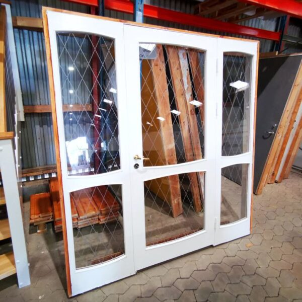 Dørpari, indendørs med mønstret glas